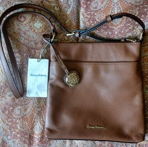 BRAND NEW Leather Crossbody Bag by Tommy Bahama